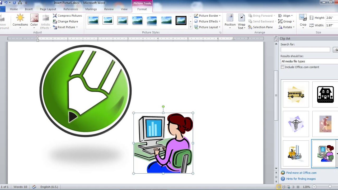 Difference between clipart and picture in ms word transparent library Insert Picture Clip art and Smart Art in Ms Word in Hindi transparent library