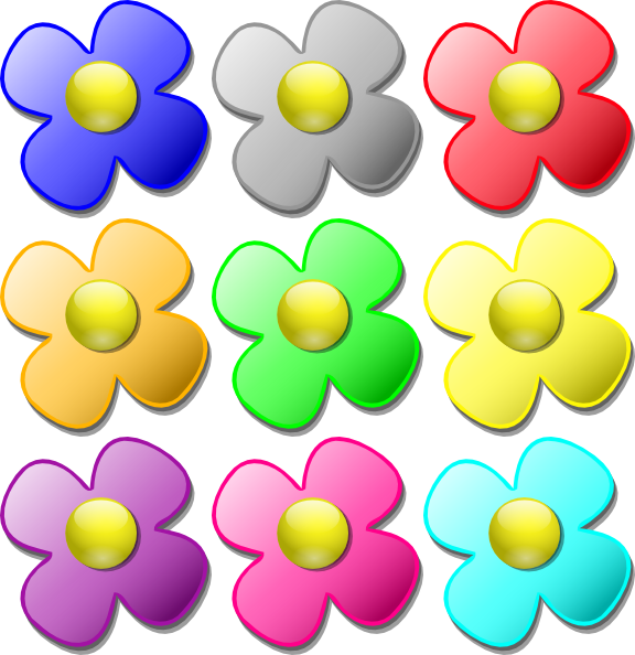 Different flower clipart png download Game Marbles Flowers Clip Art at Clker.com - vector clip art online ... png download