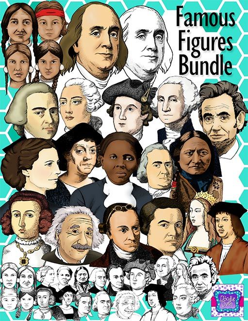 Different people from history images on clipart picture library Realistic Famous People in US History Clipart Bundle | 8th Grade ... picture library