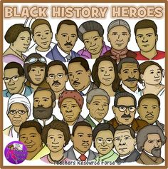 Different people from history images on clipart svg freeuse Cute black history people clipart - Clip Art Library svg freeuse