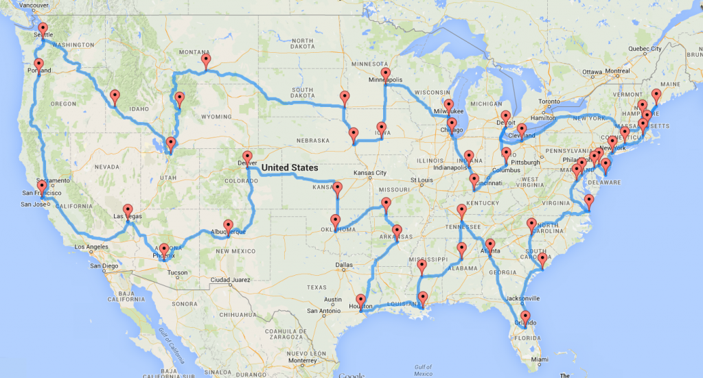 Different routes to the same place clipart picture transparent stock Computing the optimal road trip across the U.S. | Dr. Randal ... picture transparent stock