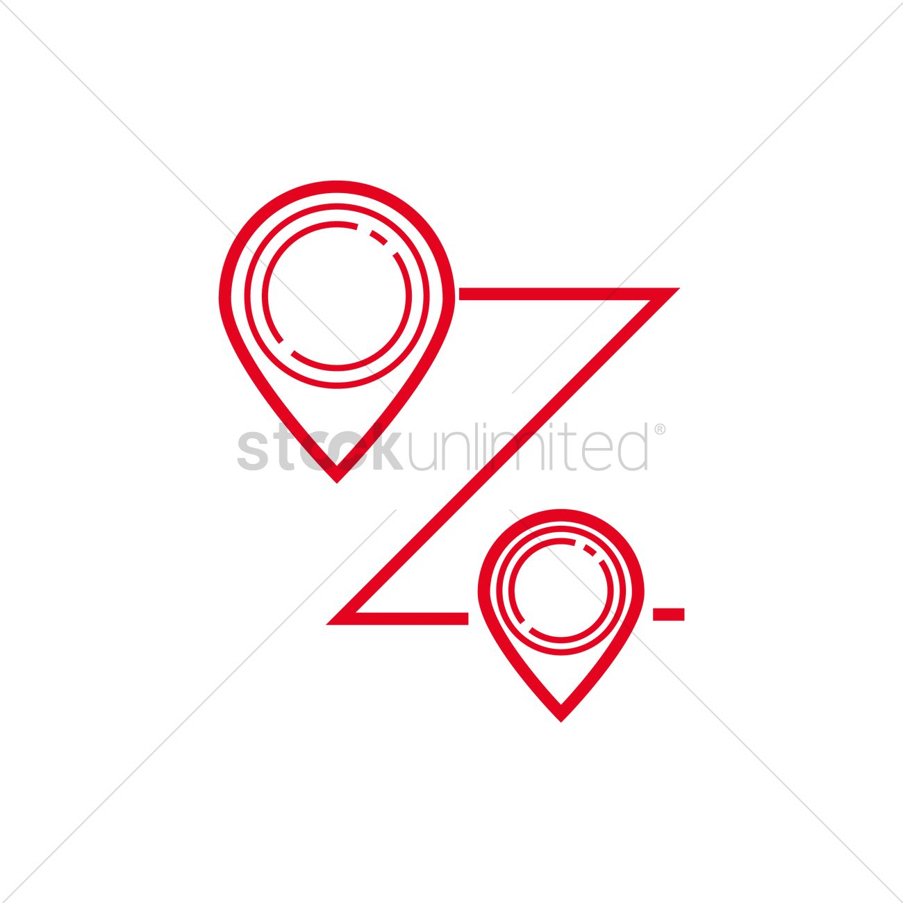 Different routes to the same place clipart graphic freeuse stock Route with location pin icon Vector Image - 2022655 ... graphic freeuse stock