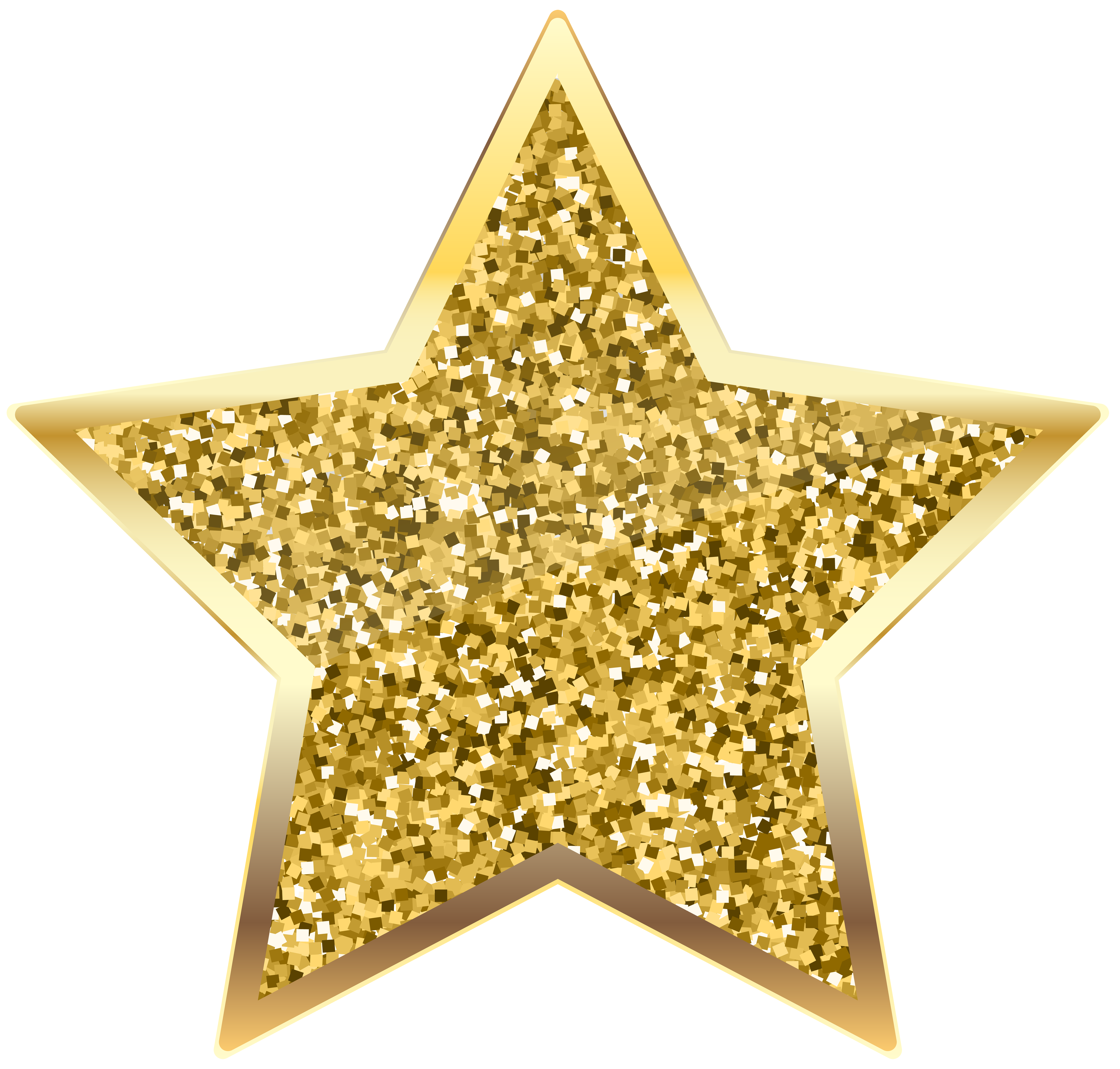 Different sized star clipart clip black and white library Golden Deco Star Transparent PNG Clip Art   Gallery Yopriceville ... clip black and white library
