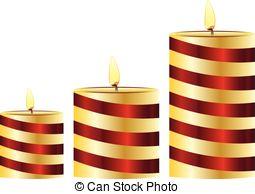 Candles set clip art. Different sizes clipart