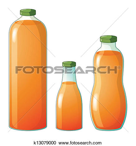 Of three bottles with. Different sizes clipart