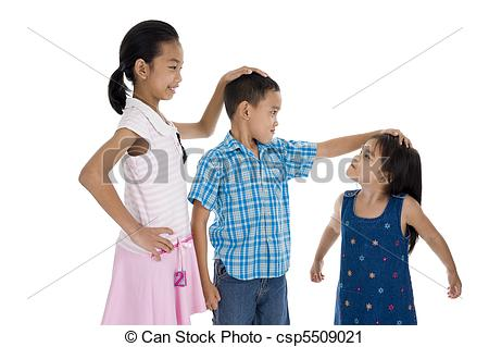 Different sizes clipart. Stock photography of children