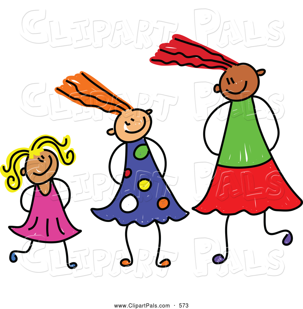 Different sizes clipart. Clipartfest girls of