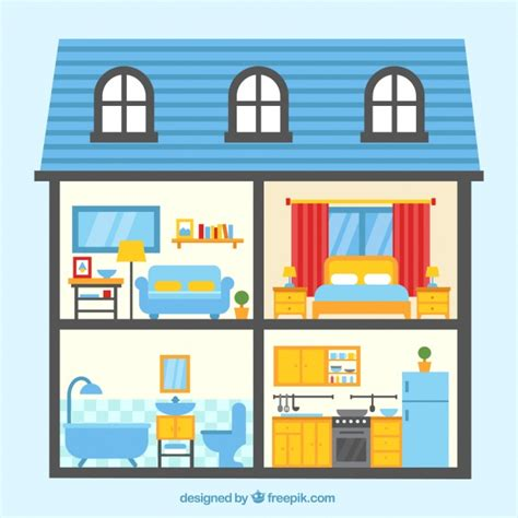 Different types of rooms in a house clipart svg black and white Rooms In A House - Northeast svg black and white