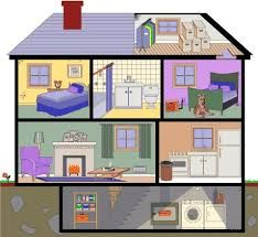 Different types of rooms in a house clipart vector freeuse download 114 Best rooms images in 2016   House clipart, The house ... vector freeuse download