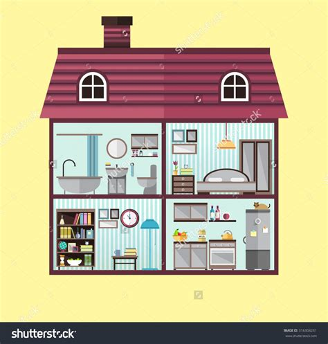 Different types of rooms in a house clipart clipart free Rooms In A House - Northeast clipart free