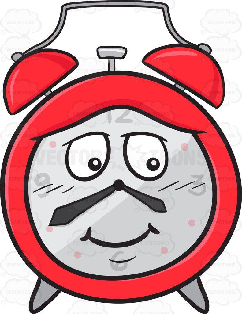 Diffident clipart image royalty free Bashful Looking Alarm Clock Emoji #alarm #alarmclock #bell #clock ... image royalty free