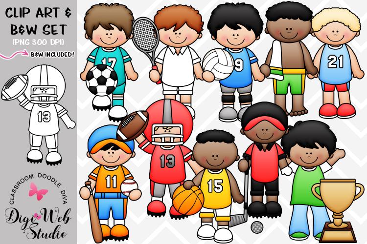 Digistudio clipart clipart black and white library Clip Art / Illustrations - Sports Boys clipart black and white library