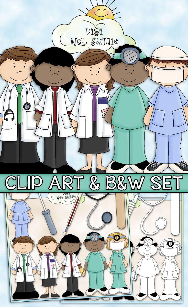 Digistudio clipart vector library stock A Visit To The Doctor Clip Art - Medical Clip Art - CU Clip Art ... vector library stock
