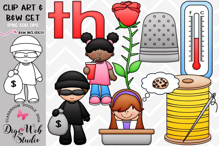 Digistudio clipart jpg royalty free stock Clip Art Illustrations - Beginning Digraphs - th Phonics jpg royalty free stock