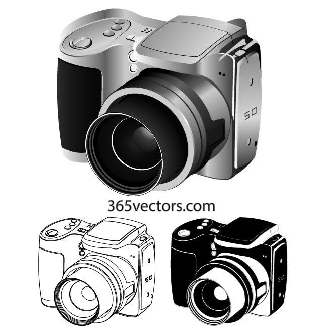 Digital camera vector clipart picture freeuse stock DIGITAL CAMERA VECTOR CLIP ART - Free vector image in AI and EPS format. picture freeuse stock