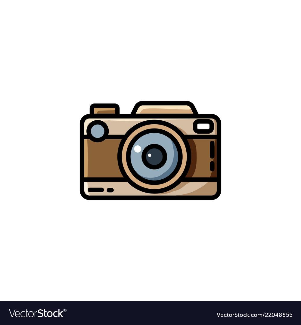 Digital camera vector clipart stock Vintage camera or retro camera stock