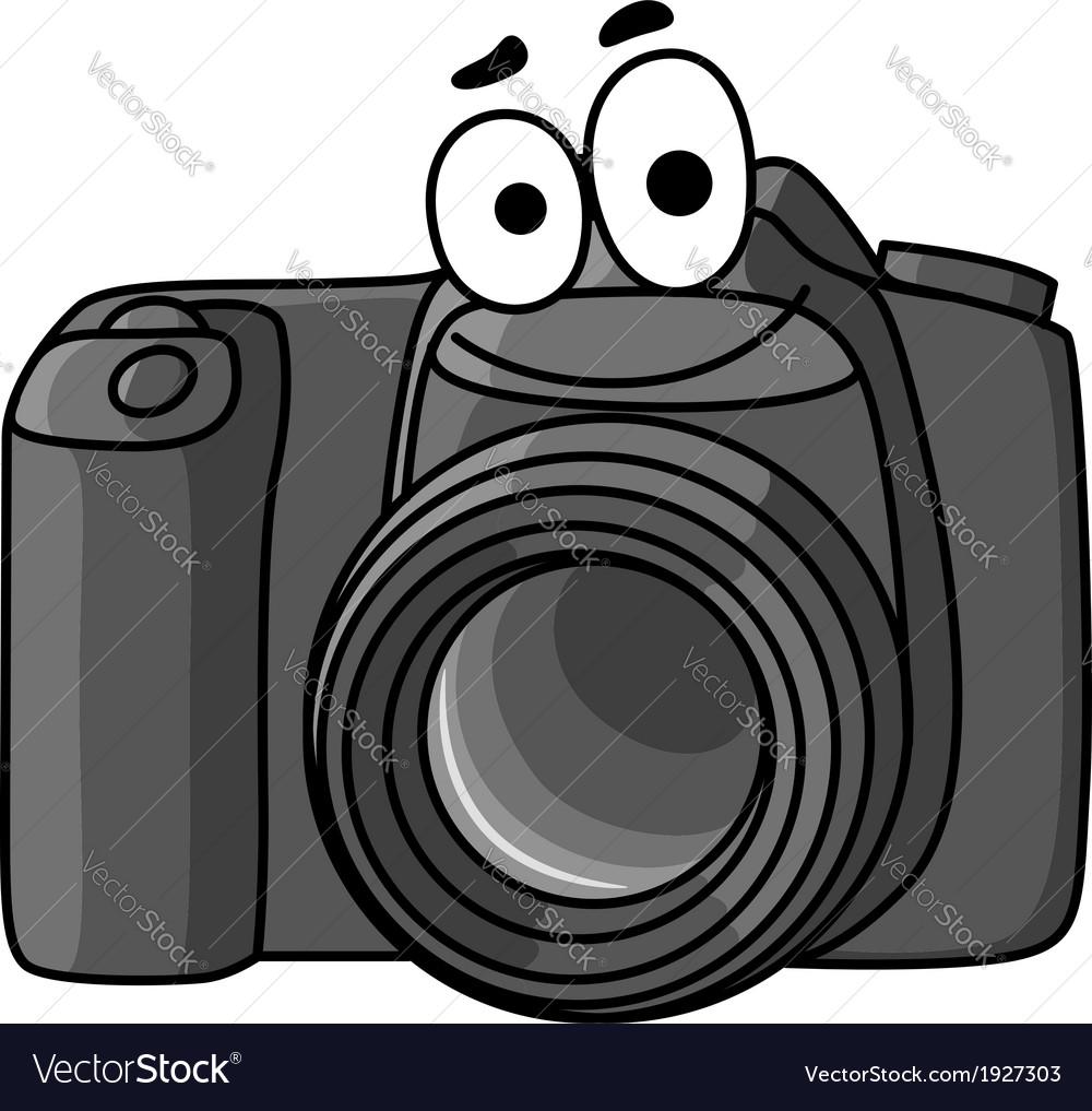 Digital camera vector clipart vector black and white library Cartoon digital camera vector black and white library