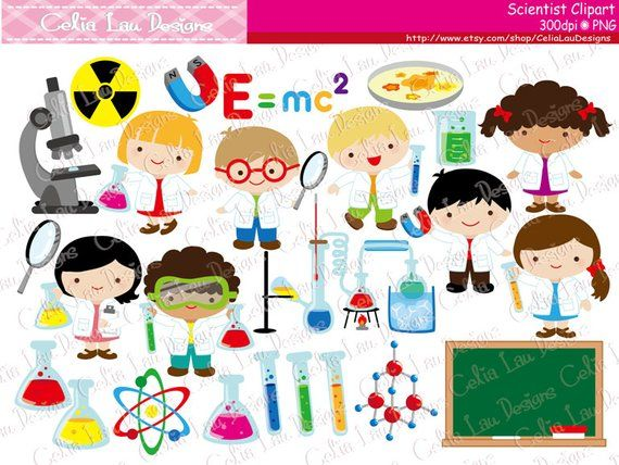 Digital clipart etsy png library Cute Scientist Digital Clipart, Mad Scientist clip art , Scientist ... png library