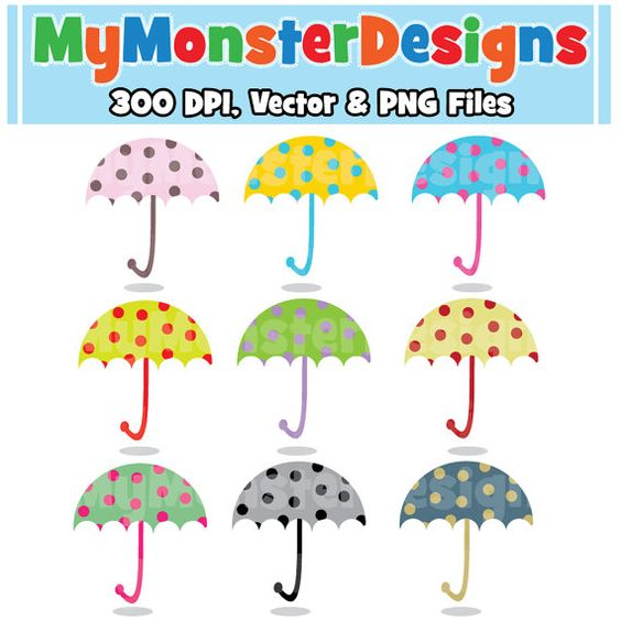 Digital clipart for commercial use freeuse stock Cute Umbrella Clipart Commercial Use, Vector Graphics, Digital ... freeuse stock