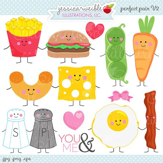 Digital clipart for commercial use svg Perfect Pair V2 Cute Digital Clipart - Commercial Use OK - Things ... svg