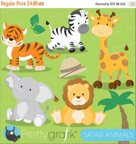 Digital clipart for commercial use image library download 80% OFF SALE Safari Animals clipart commercial use, Jungle animals ... image library download