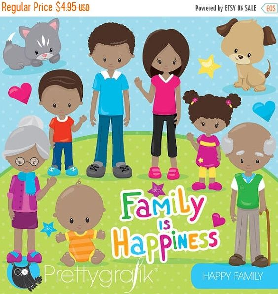 Digital clipart for commercial use image royalty free Happy family clipart commercial use, grandparents, vector graphics ... image royalty free