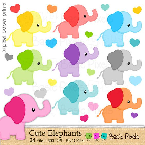 Digital clipart for commercial use jpg library library Elephant clipart - Digital Clip Art - Personal and commercial use ... jpg library library
