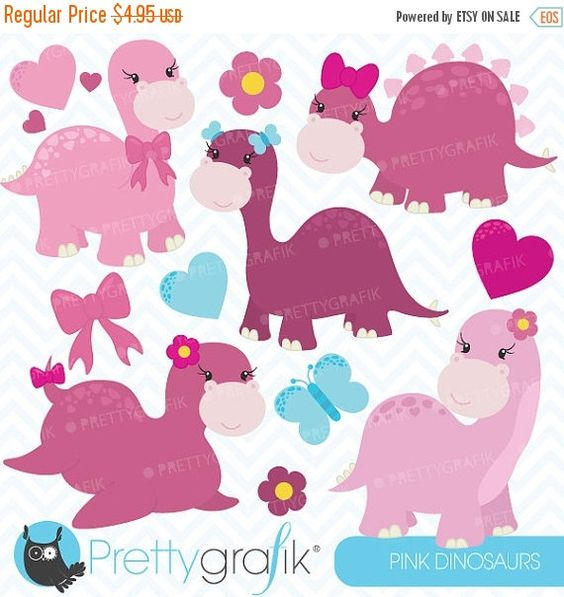 Digital clipart for commercial use clip library library pink dinosaurs clipart commercial use, vector graphics, digital ... clip library library