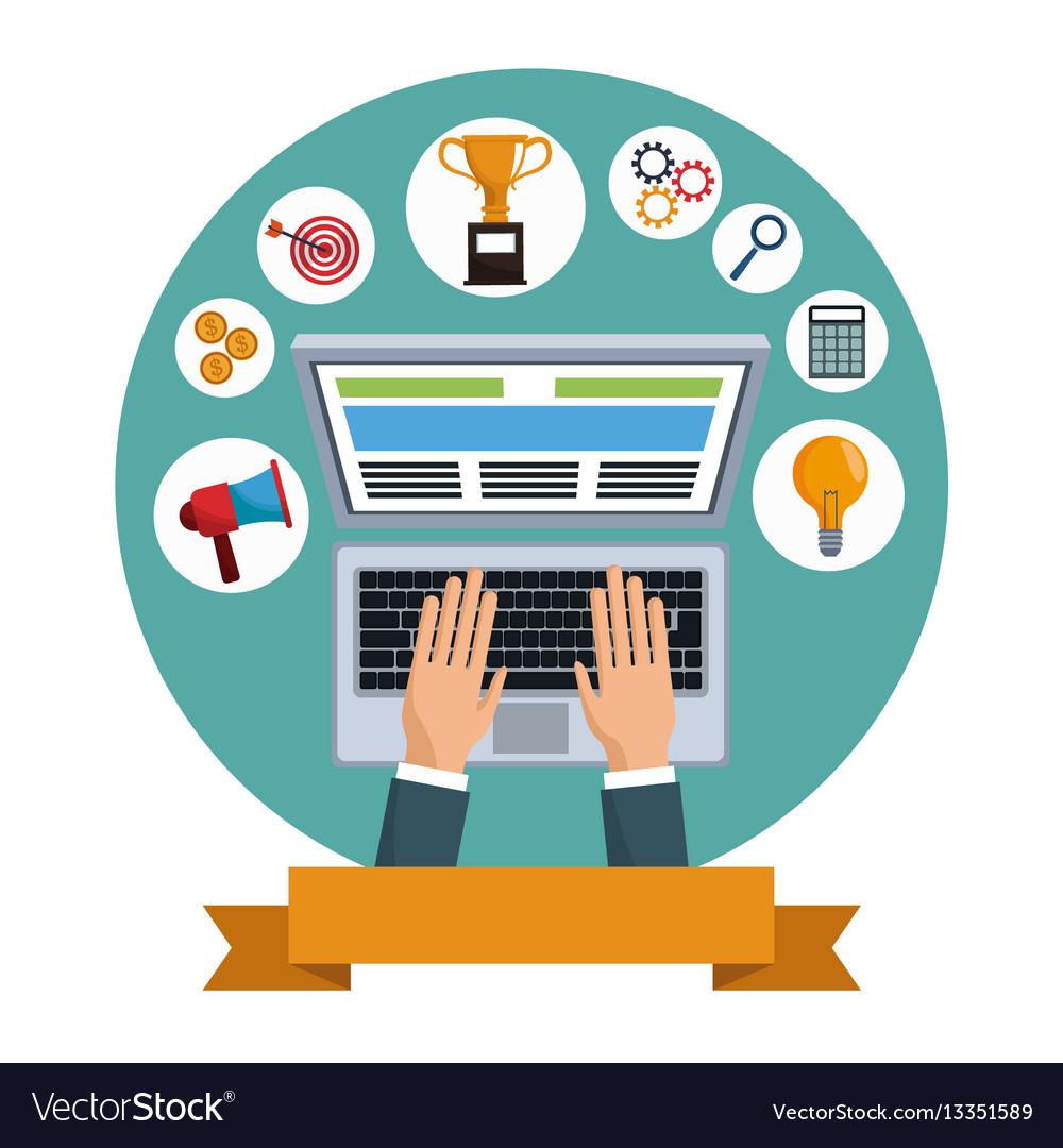 Digital marketing vector clipart image transparent download Digital marketing laptop social media image transparent download