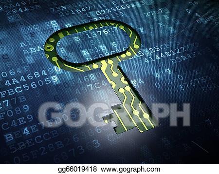 Digital screen clipart clip art stock Stock Illustration - Security concept: key on digital screen ... clip art stock