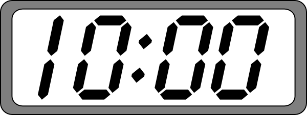 Digital time clipart graphic free stock Clipart digital clock 1 » Clipart Portal graphic free stock
