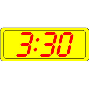 Digital time clipart clip black and white Digital Clock clipart, cliparts of Digital Clock free ... clip black and white