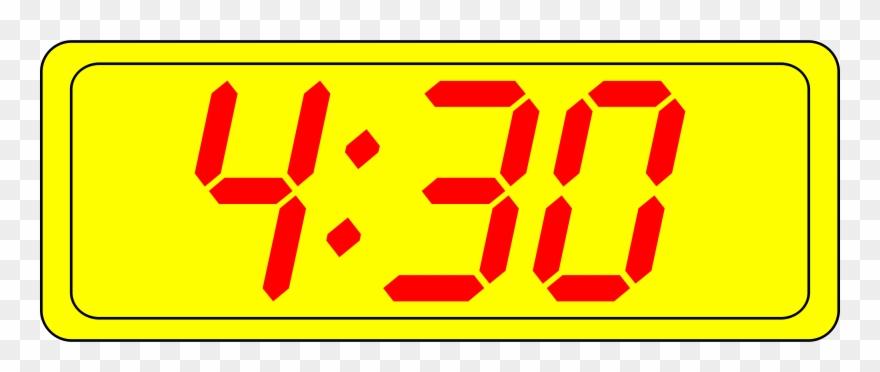 Digital time clipart vector download Digital Clock Time 12-hour Clock Digital Data - 4 30 Pm ... vector download