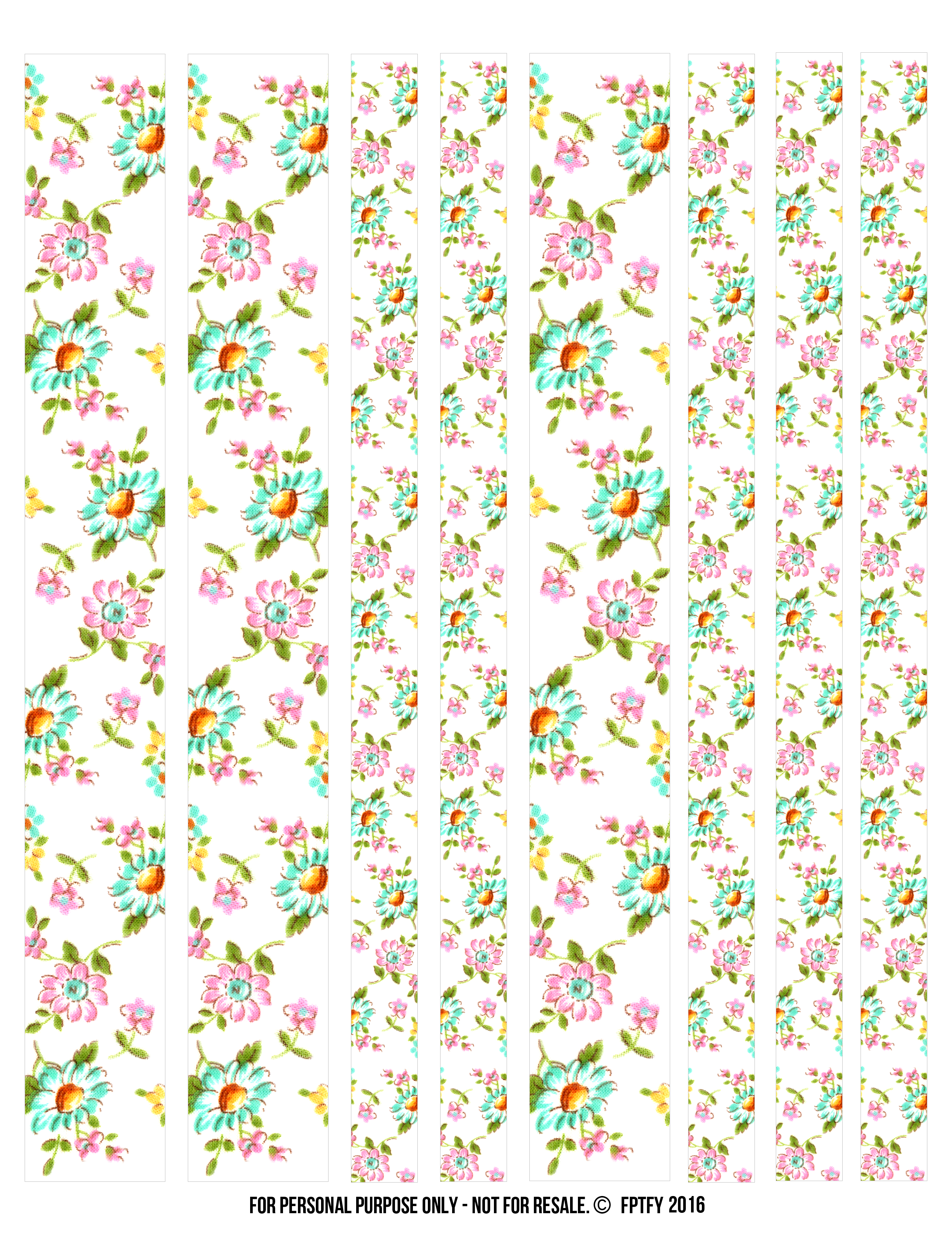 Digital washi tape clipart free svg free library Free Floral Digital Washi Tape! - Free Pretty Things For You svg free library