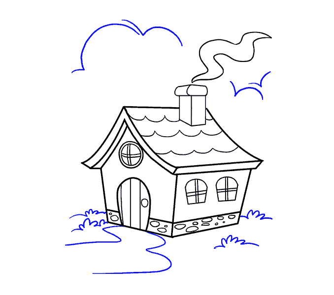 House with chimney clipart jpg download How to Draw a Cartoon House in a Few Easy Steps | Easy Drawing Guides jpg download