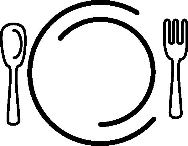 Fork thanksgiving dinner clipart black and white picture black and white stock Free Free Dinner Clipart, Download Free Clip Art, Free Clip ... picture black and white stock