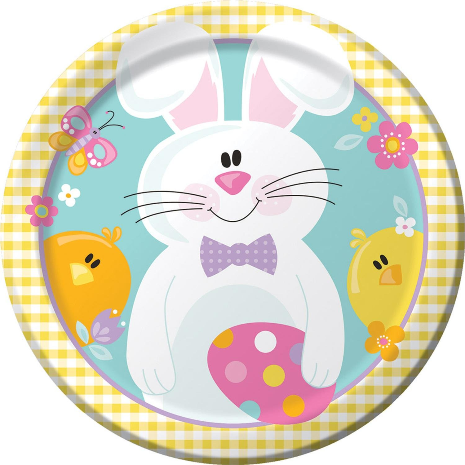 Dinner club colorful clipart clip black and white Amazon.com: Club Pack of 96 Multi-Colored Bunny Spring ... clip black and white