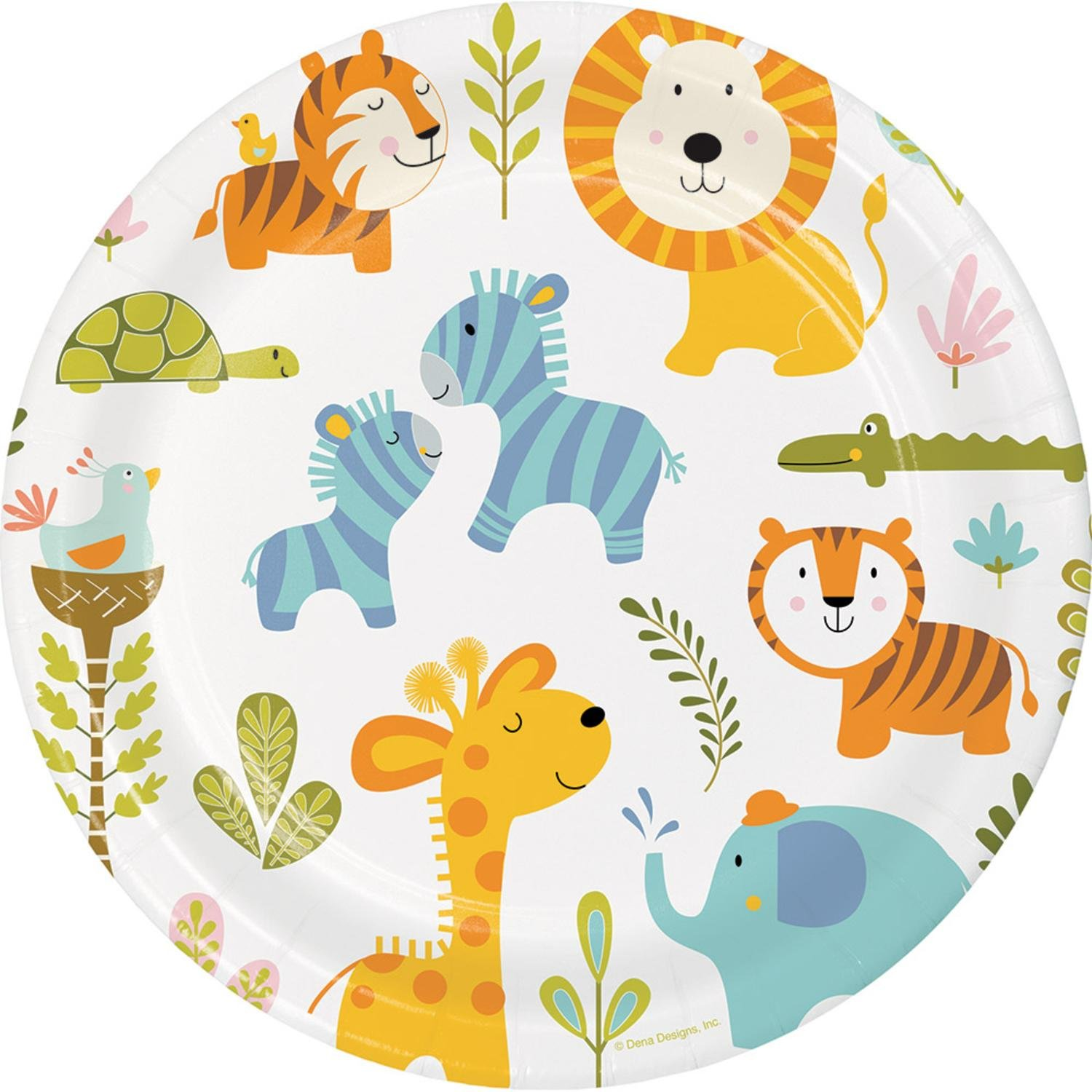Dinner club colorful clipart picture transparent download Amazon.com: Club Pack of 96 Vibrantly Colored Happy Jungle ... picture transparent download