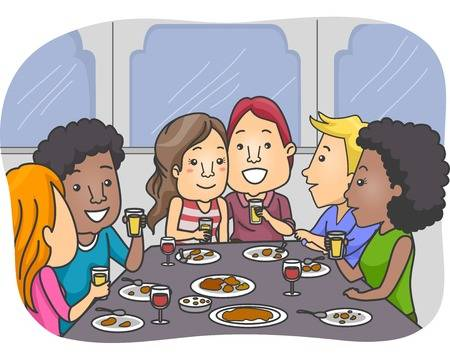 Dinner with friends clipart vector stock Friend Dinner Cliparts - Making-The-Web.com vector stock