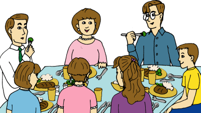Dinner with friends clipart free stock Friend Dinner Cliparts - Cliparts Zone free stock