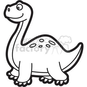 Dinosaur black and white clipart clip stock brachiosaurus dinosaur cartoon in black and white clipart. Royalty-free  clipart # 397921 clip stock