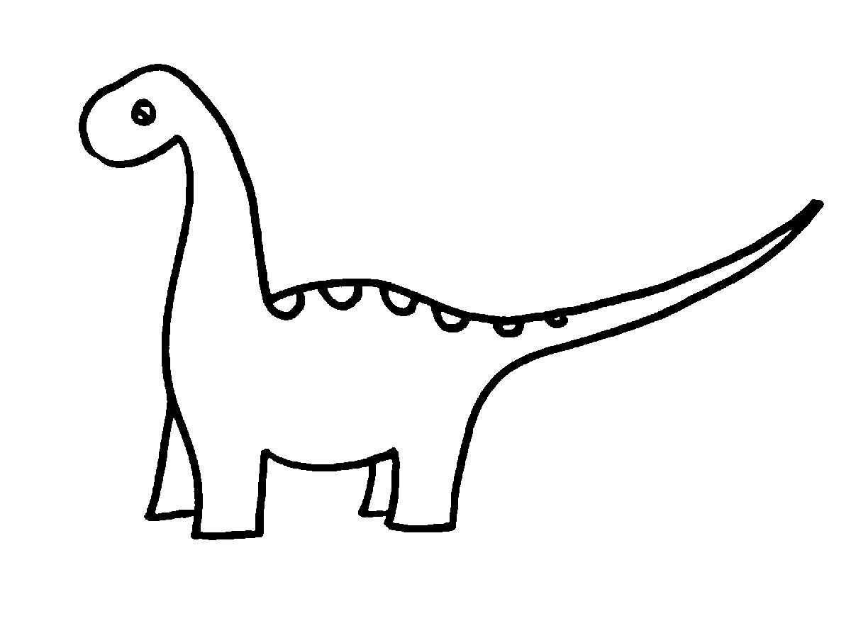 Dinosaur clipart outline jpg black and white Dinosaur Clipart Black And White   Free download best ... jpg black and white