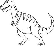 Dinosaur outline clipart