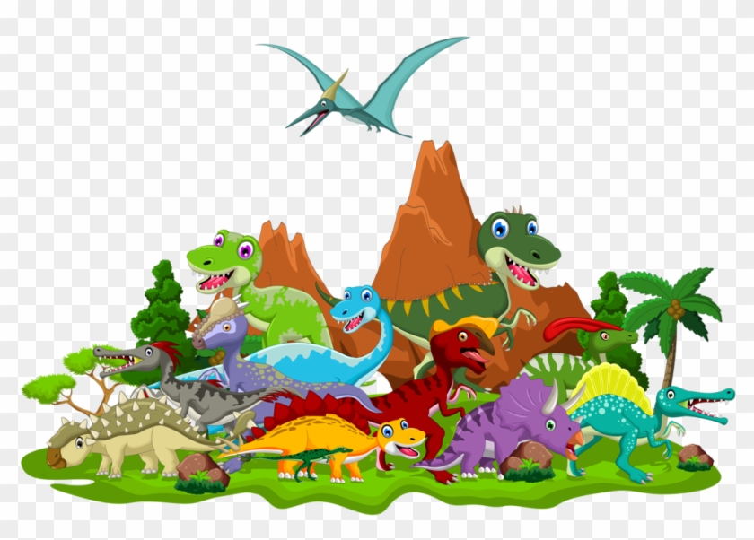 Dinosaur clipart png jpg transparent Dinosaur Clipart Landscape - Cartoon Dinosaur Pictures Png ... jpg transparent