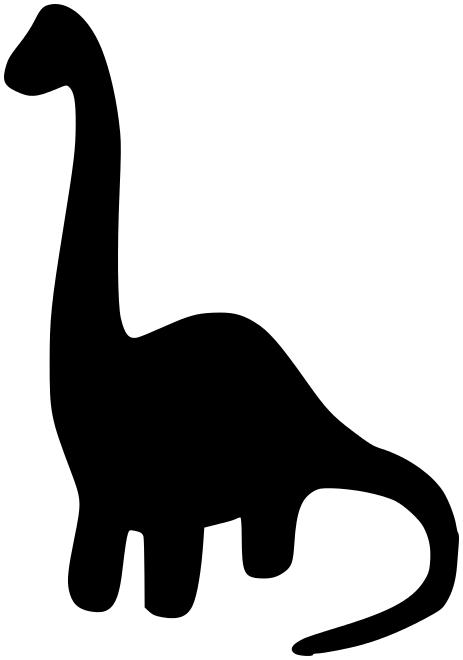 Dinosaur clipart silhouette clip free stock herbivore dinosaur silhouette | Other | Dinosaur silhouette ... clip free stock