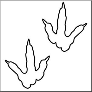 Dinosaur footprints clipart svg freeuse library Clip Art: Dinosaur Footprints 01 B&W 2 I abcteach.com | abcteach svg freeuse library