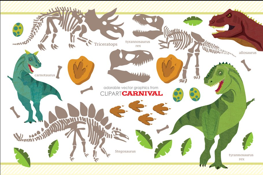 Dinosaur fossil clipart clip freeuse download Dinosaur Fossils and Skeletons clip freeuse download