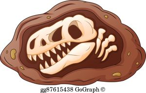 Dinosaur fossil clipart jpg free download Dinosaur Fossil Clip Art - Royalty Free - GoGraph jpg free download