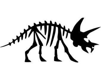 Dinosaur fossil clipart clipart royalty free library Triceratops Dinosaur Fossil - SMALL - Vinyl Wall Decal ... clipart royalty free library