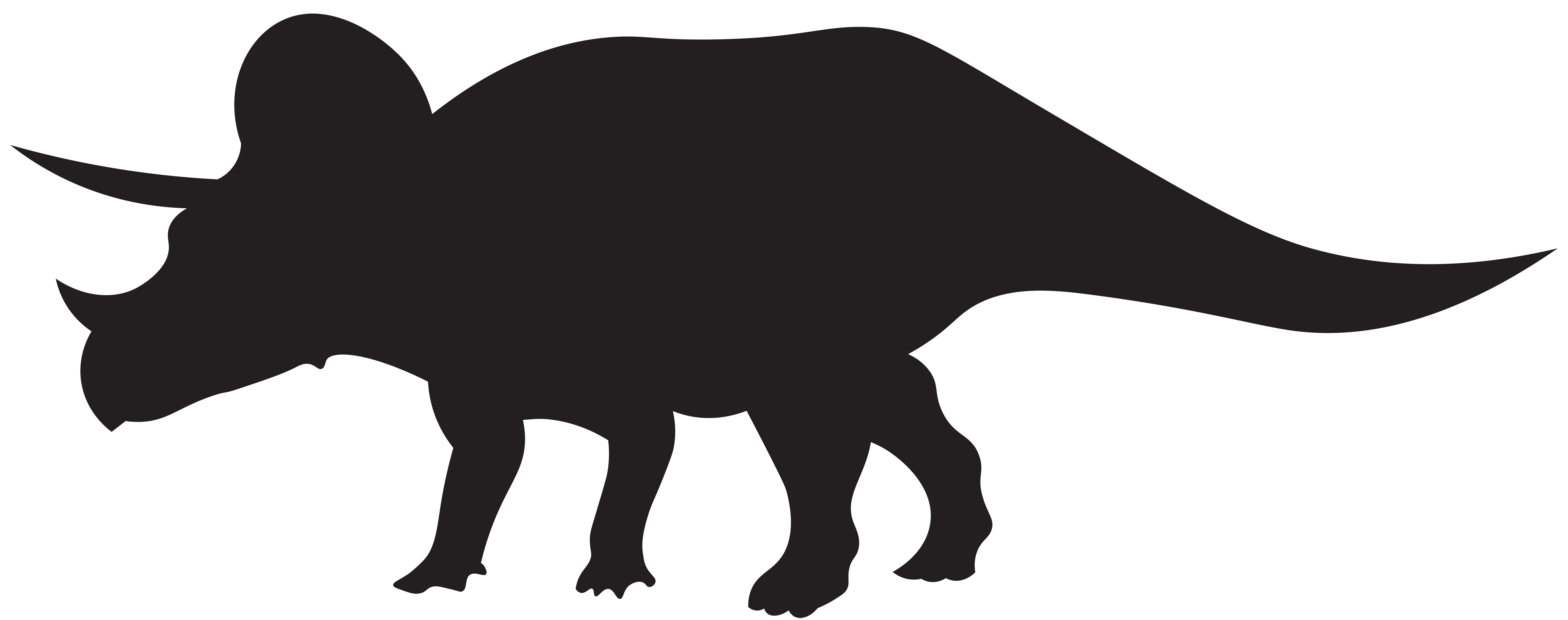 Dinosaur halloween clipart black and white download Dinosaurs Triceratops Silhouette PNG Clip Art Image | Gallery ... black and white download